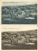 2 CP Wiltz - Wiltz + Niederwiltz Panorama - W. Capus No. 105 Brun + 205 Bleu - Wiltz