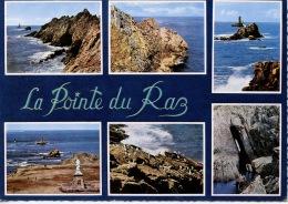 Pointe Du Raz Multivues : Generale Tete Cochon Extreme Pointe N D Naufragés Oiseaux Tunnel Cormorans Dentelée N°20532  V - France