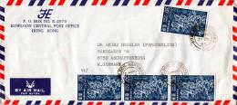 HONG KONG Brief, 4 Fach Frankiert, Gel. Von Hongkong > Aschaffenburg (Großbrief Gefaltet) - El Salvador