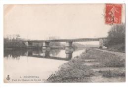 CP, 95, CHAPONVAL, Pont Du Chemin De Fer Sur L'Oise, Voyagé - France