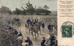 Cpa 1908, Retour De La Revue De L'empereur à Metz, L'empereur En Avant De La Cie Des Drapeaux (39.102) - Other Wars