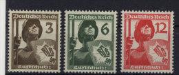 Deutsches Reich Michel No. 643 - 645 ** postfrisch