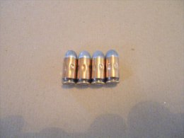 4 Cartouches De Manipulation Cal 9mm MAKAROV (inerte) - Equipement
