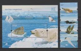 Portugal 2008, Mi.-Nr.  3308/11 Und Block 269, Internationales Polarjahr, Postfrisch/mint - 1910-... République