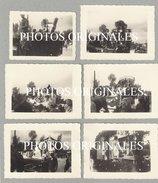 Guerre 40/45 - Libération - BEAUVECHAIN - Lot Exceptionnel De 6 Photographies Du CORTEGE De La VICTOIRE En 1945 - Beauvechain