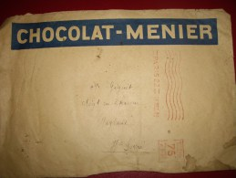 Lettre Puplicitaire CHOCOLAT-MENIER Avec Vignette  Tarif 75 Cts 1931 - EMA (Empreintes Machines à Affranchir)