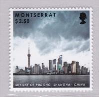 Montserrat Architektur Architecture Skyline Of Shanghai China MNH ** - Montserrat