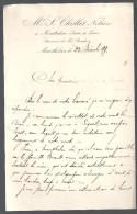 Documents Commerciaux Etude De Me S. Cholle Notaire à  Manthelan (Indre Et Loire 37) Du 23/12/1899 - Petits Métiers