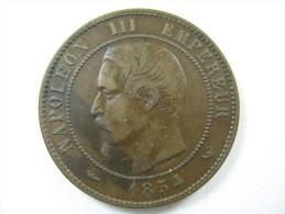 FRANCE 10 CENTIMES 1854 W  COIN HIGH GRADE  LOT 32 NUM 8 - D. 10 Centimes