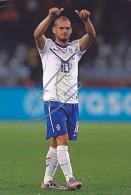 DEDICACE Autographe Football De SNEIJDER Wesley (Pays Bas - Nederland - Hollande) - Autografi