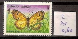 Ouzbékistan 2 ** Côte 0.60 € - Uzbekistan