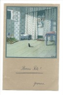 9808 -  Enfant Et Chien Sur Un Banc - Phantasie