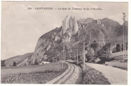 346.  -  SAINT - NIZIER.   -  La  Ligne  De  Tramway  Et  Les  3  Pucelles. - Francia