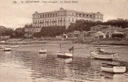 Cpa ARCACHON, Côte D'argent, Le Grand Hôtel, Ses Serres,  Barques  (40.02) - Arcachon