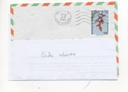"""Flamme Mécanique ABIDJAN -01  4/09/1984 Sur TP FLEUR """"HELICONIA ROSTRATA"""" - Ivory Coast (1960-...)"""