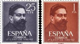 España 1320/1321 ** Albéniz. 1960 - 1951-60 Nuevos & Fijasellos