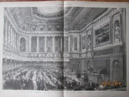 Gravure  D Epoque  1864  La Nouvelle Chambre Des Deputés  Au Palais De Versailles   Edmond De Joly  Architecte - Documentos Antiguos