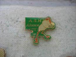 Pin's ASM Alsace (Association Strasbourg M�diations). Cigogne