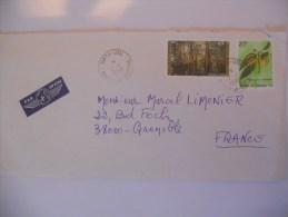 Wallis Et Futuna Lettre De Mata Utu 1998 Pour Grenoble - Covers & Documents