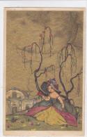 CARD CASTELLI  DAMINA ROSA SALICE PIANGENTE -FP-V-2- 0882-21116 - Castelli