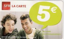 Reunion  SFR LA CARTE 5 EUR Mint New