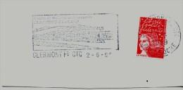 FRANCE. FRAGMENT POSTMARK. CLERMONT FERRAND. TREATMENT CENTRE OF COURIER. FLAMME - Marcofilia (sobres)
