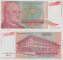 YUGOSLAVIA 500.000.000.000 DINARA 1993 , P-137 ,  UNC  ( ZA Series) Replacement - Joegoslavië