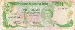 BILLETE DE BELIZE DE 1 DOLLAR  DEL AÑO 1980   (BANKNOTE) - Belice