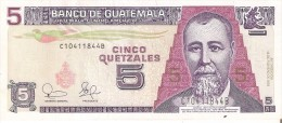 BILLETE DE GUATEMALA DE 5 QUETZALES DEL 12 DE FEBRERO 2003  (BANKNOTE) - Guatemala