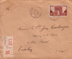 SOMME - AMIENS - CHARGEMENT - LE 14-5-1935 - LETTRE RECOMMANDEE N°258 SEUL SUR LETTRE. - 1921-1960: Modern Period