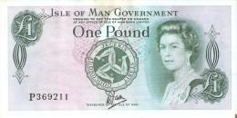 BILLETE DE LA ISLA DE MAN DE 1 POUND DEL AÑO 1983  (BANK NOTE) MUY RARO - [ 4] Isla Man / Isla Channel