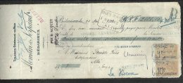 France 1922 Postal History Rare, Century Fiscal Documents And Cancellations D.025 - Fiscaux