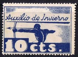 VINETA FRANQUISTA  Auxilio De Invierno 10 Cts * - Spanish Civil War Labels