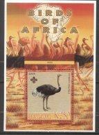2005 Wild Animals, Africa, Ostriches, Perf. Sheet, MNH S.222 - Viñetas De Fantasía