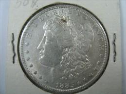 US USA 1 ONE DOLLAR MORGAN COIN SILVER 1885    LOT 10 NUM 106 - Émissions Fédérales