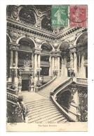 Cp, 75, Paris, L'Escalier De L'Opéra, Voyagée 1926 - Frankrijk