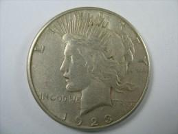 US USA 1 ONE PEACE DOLLAR COIN SILVER 1923  S  LOT 10 NUM 202 - Émissions Fédérales