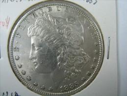 US USA 1 ONE DOLLAR MORGAN COIN SILVER 1885   LOT 10 NUM 203 - 1878-1921: Morgan