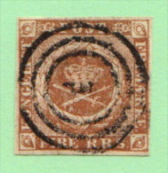 DEN SC #2b  Royal Emblems  4 Margins, CV $55.00 - Used Stamps