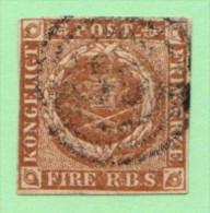 DEN SC #2b  Royal Emblems, CV $55.00 - 1851-63 (Frederik VII)