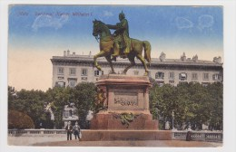 (RECTO / VERSO) METZ EN 1919 - DENKMAL KAISER WILHELM I - AVEC PERSONNAGES - Metz