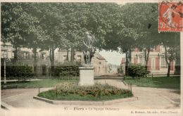 CPA FLERS , Le Square Delaunay - Flers