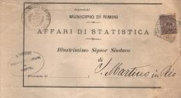 1909     LETTERA CON ANNULLO  RIMINI - 1900-44 Vittorio Emanuele III
