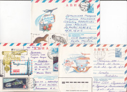 USSR Russia 3 Old Circulated Envelopes - Aerophilately - Airmail - Covers & Documents