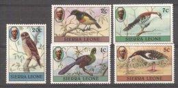 Sierra Leone 1980 Birds, 1c7c XII, 2c5c20c YII, MNH S.132 - Sierra Leone (1961-...)