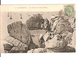 44 LE CROISIC / N°4 : Rochers Grand HÔTEL  / CPA  (ed.inconnu) Voyagée 1907 (type Blanc YT 111) / TBE - Le Croisic