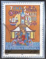 CROATIA  - HRVATSKA  - Ovpt.  TRSAT  MADONNA - Used  -1992 - Croazia