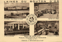 20     ORANGE     -    FILATURE  MANUFACTURE  ET  TEINTURERIE  LAINES DU BOUTON - Orange
