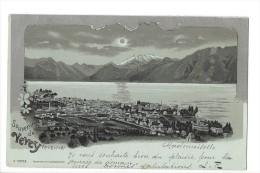 9814 - Souvenir De Vevey Au Clair De Lune Litho - VD Vaud