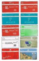 ¨ BELGIE  BELGACOM 10  VERSCHILLENDE TELEFOONKAARTEN - Collections